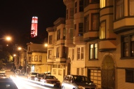 Coit Tower, one of my favorite landmarks as seen from Kearney St.