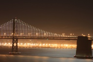 The Bay Bridge at night from my place